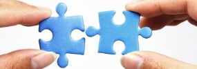 Chicago brand consulting - Branding and Positioning - blue puzzle pieces