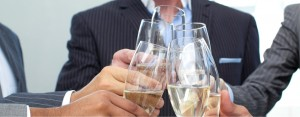 Brand consulting business & marketing services firm celebrates 5 years - Champagne toast